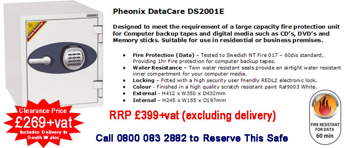 buy Pheonix DS2001E safe in cardiff