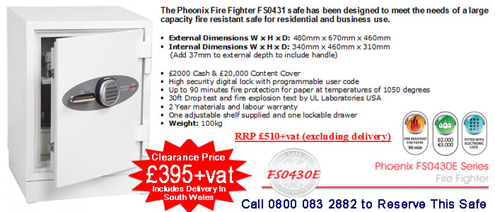 buy Pheonix FS0431E safe in cardiff