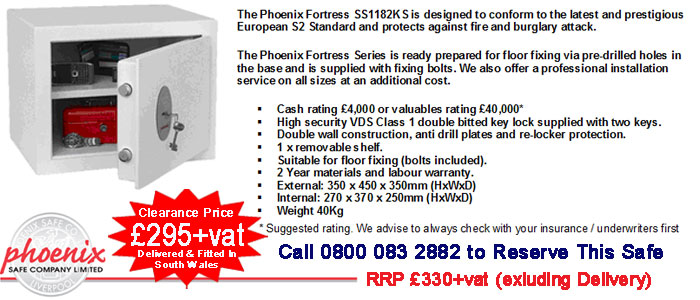 buy Pheonix fortress SS1182K safe in cardiff